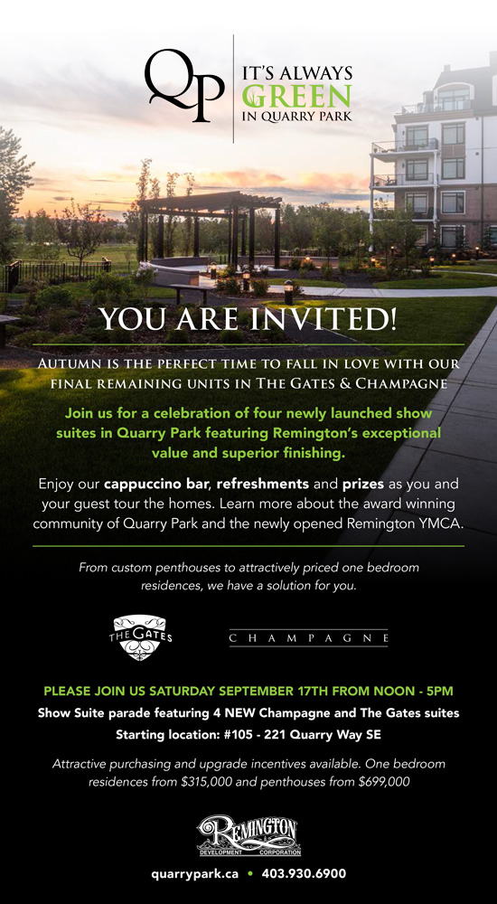 Quarry Park Open House Invite
