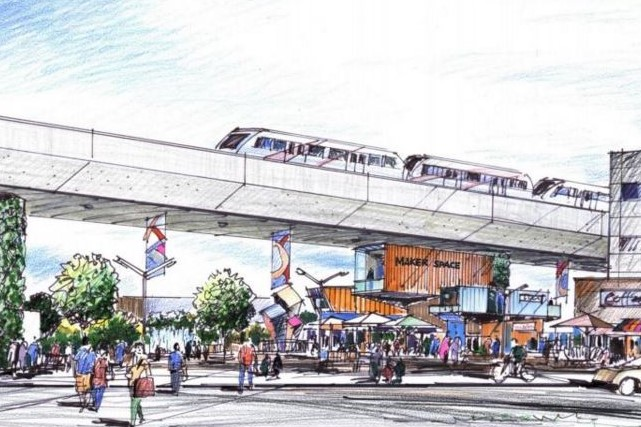 An artist's rendering of the Ramsay/Inglewood Station.
